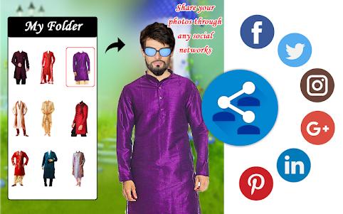 Men Shirt With Tie Photo Suit Maker 1.0.9 screenshot 8