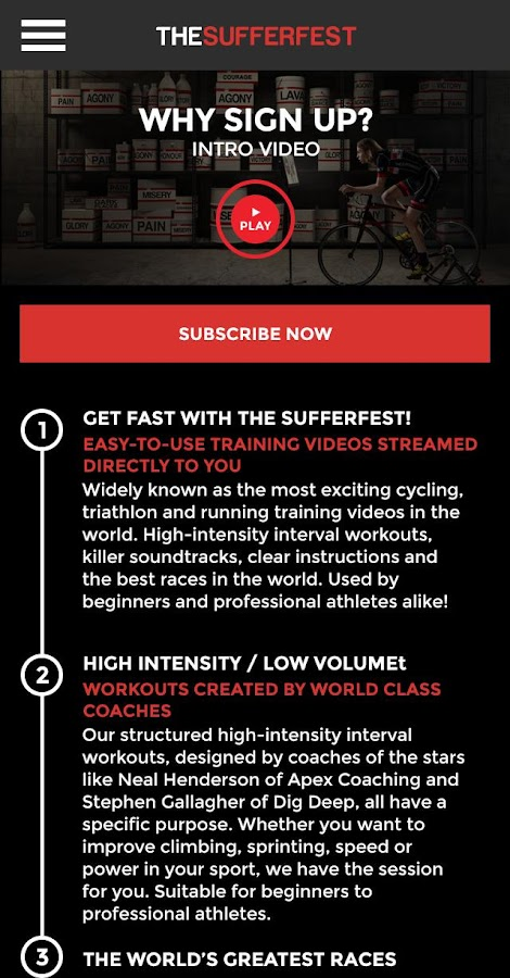 The Sufferfest 2 0 APK Download - Android Health & Fitness Apps