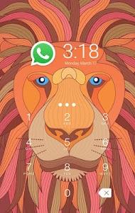 AppLock Theme Lion-Fingerprint 1.0.0 screenshot 2