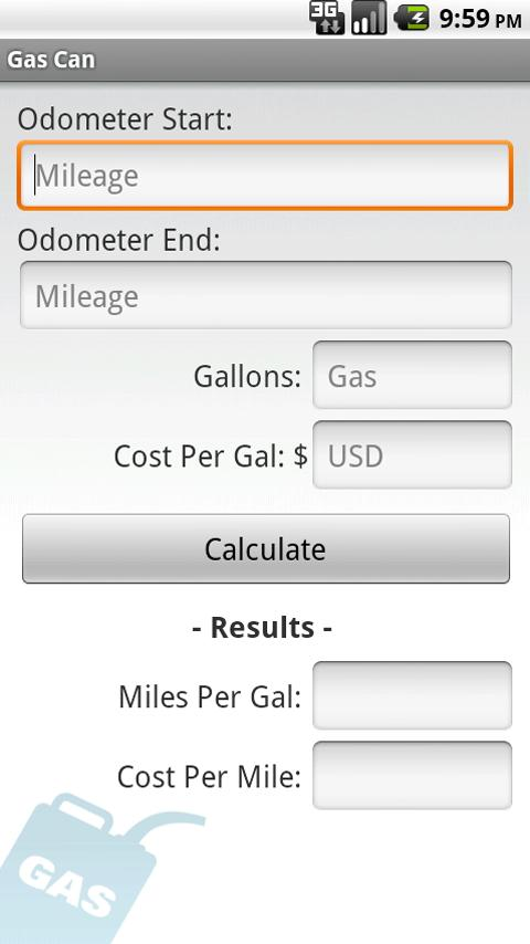 gas mileage calculator 1 05 apk download android transportation apps