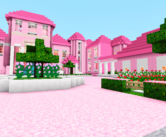 Pink Dollhouse Games Map For Mcpe Roblox Ed 10 Apk - dollhouse roblox