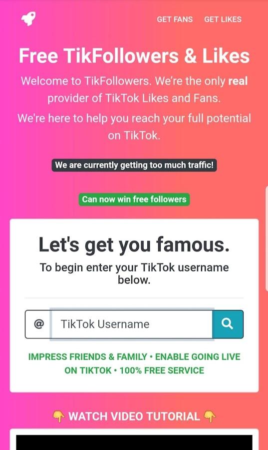 TikFollowers : Free Fans & Followers & Likes 8 0 APK Download
