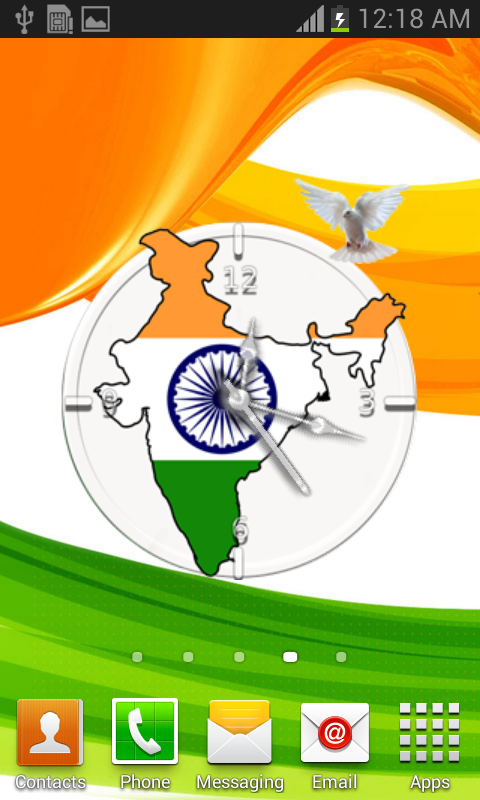 India Flag Theme Clock 1 0 APK Download - Android Photography Apps