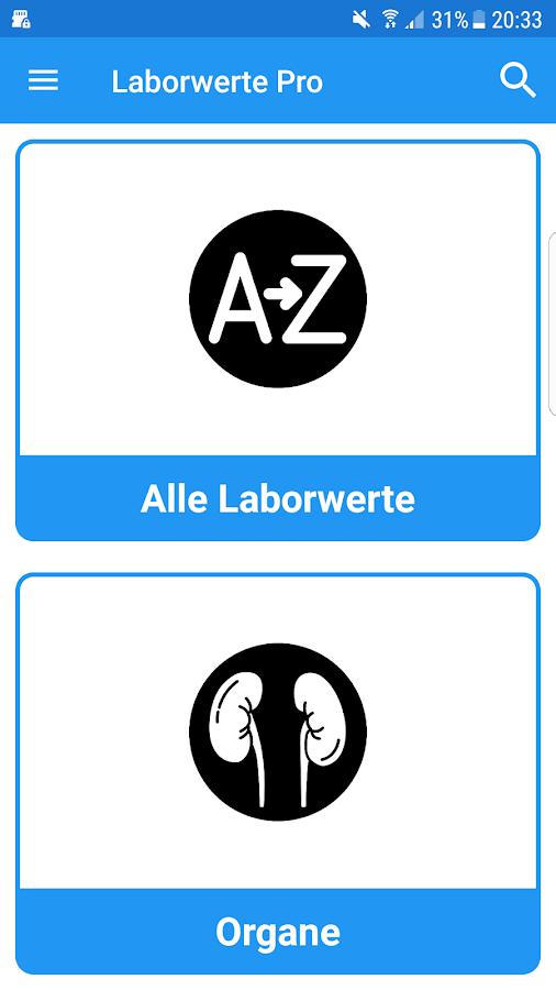 Laborwerte Pro 5 1 0 APK Download - Android Medical Apps