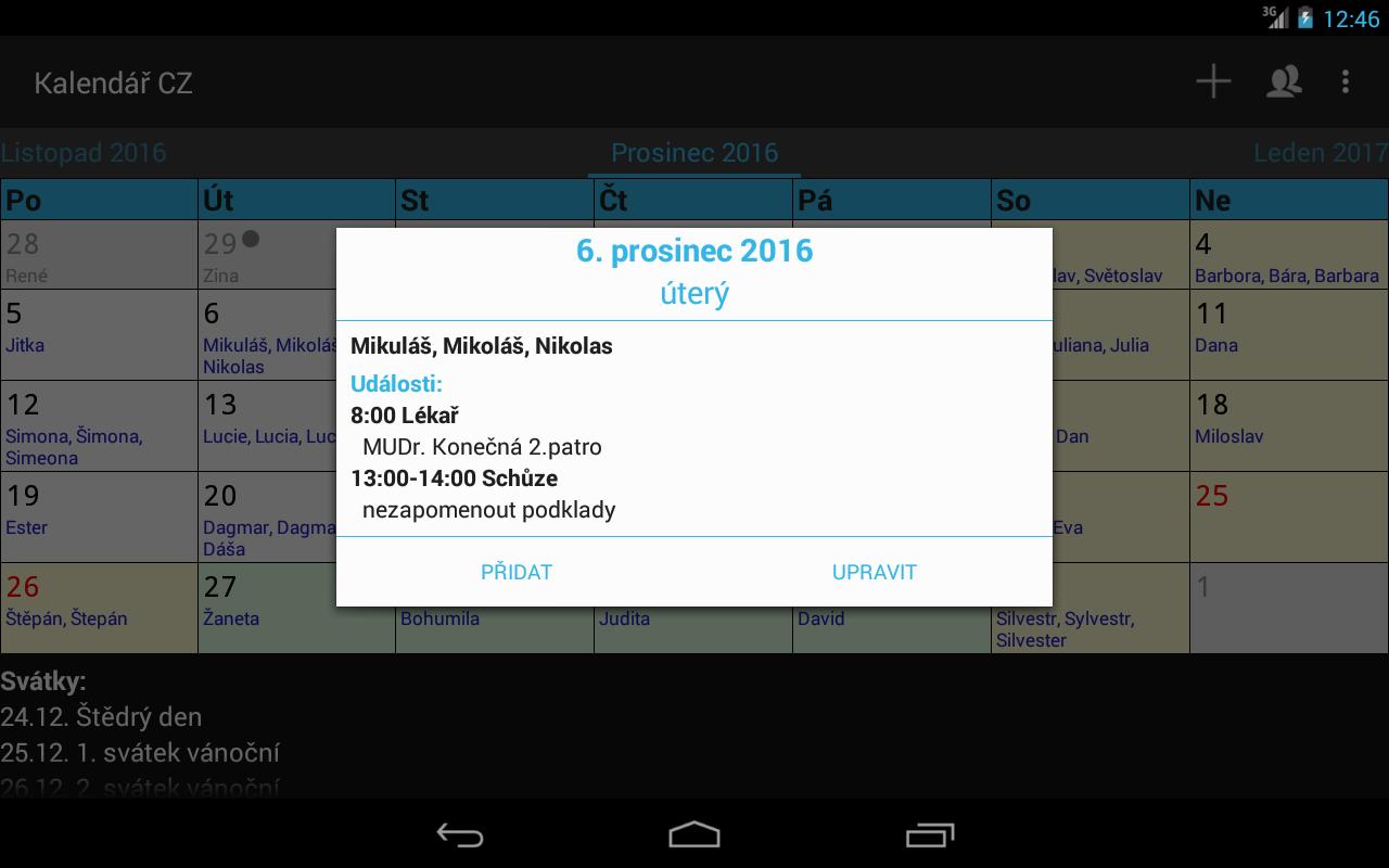 cesky svatek kalendar Kalendář CZ 3.1.5 APK Download   Android Tools Apps cesky svatek kalendar