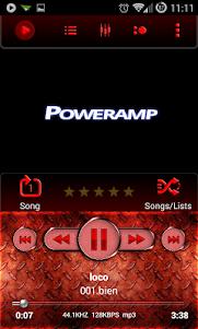Poweramp Skin Red Metal 3.0 screenshot 1