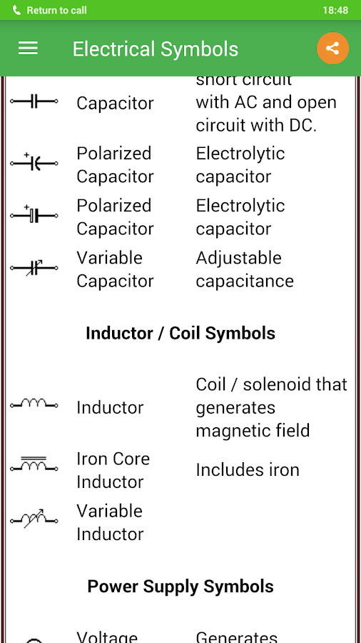 Electrical Symbols 5.1.1 APK Download - Android Education Apps