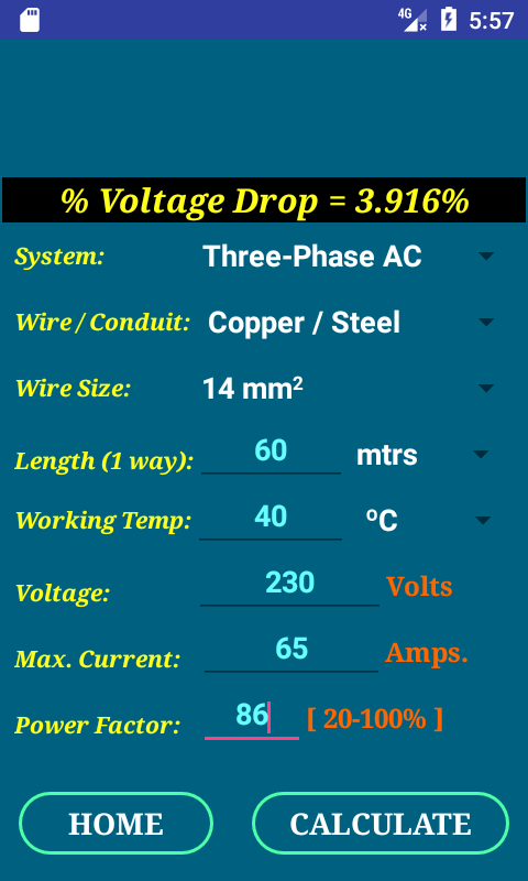 PEC Conductor Size Calc FULL 1.0.5 APK Download - Android Tools Apps
