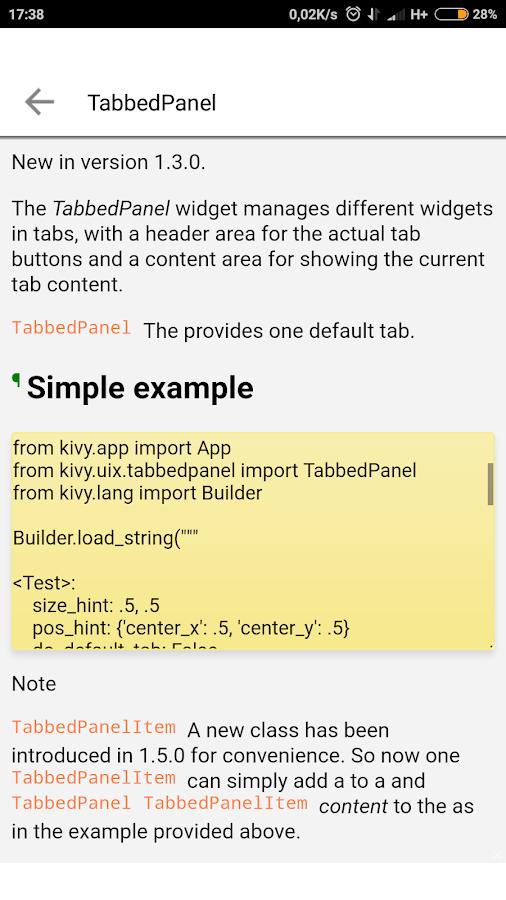 Kivy Documentation - Learn Kivy 1 3 APK Download - Android