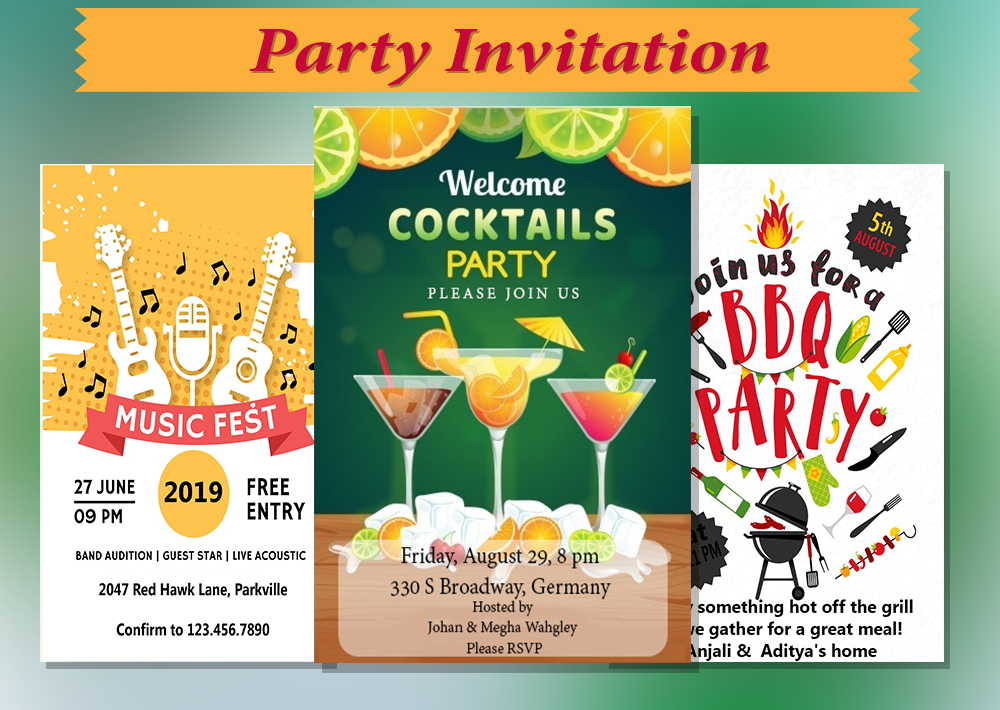 Party Invitation Card Maker 1 00 42 Apk Download Android