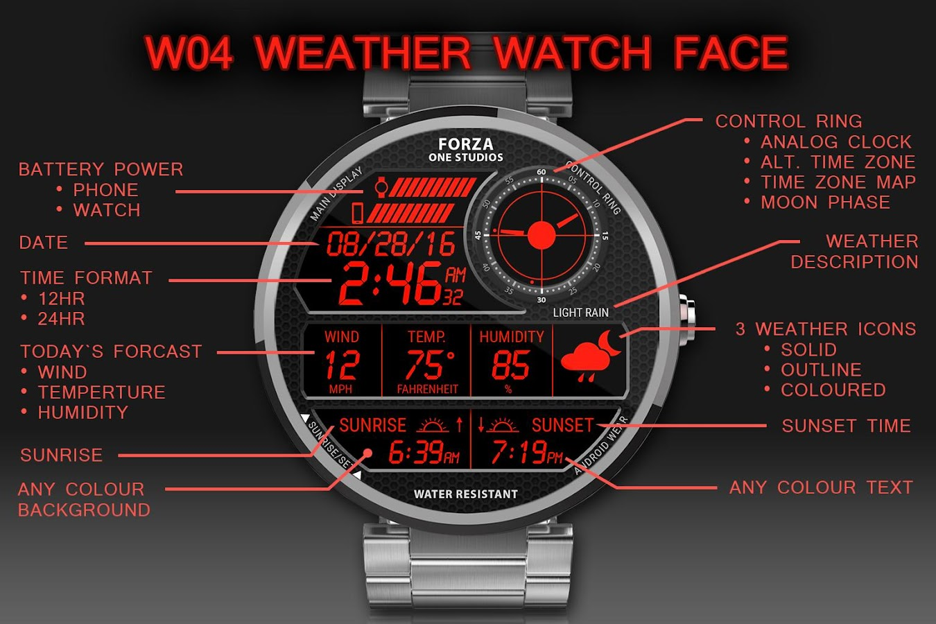 Watch Face W04 Android Wear 121 Apk Download Circuit Board Clock V 10 For G Facerepo Screenshot 1