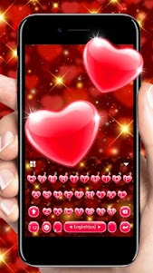 Red Heart Keyboard Theme 6.0 screenshot 1