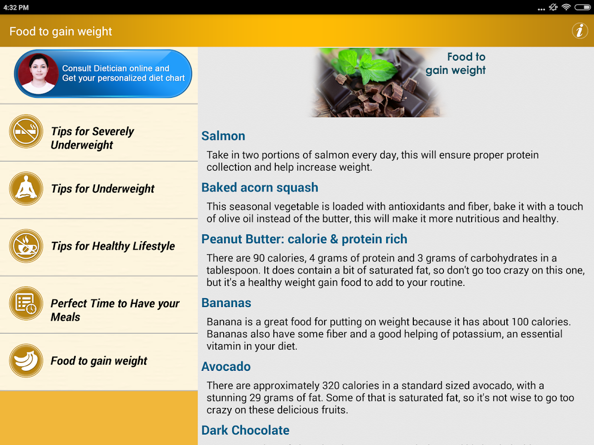 Weight Gain Diet Plan Foods 34 Apk Download Android Health