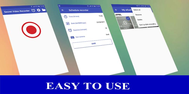 Secret Video Recorder HD 1 2 APK Download - Android Tools Apps