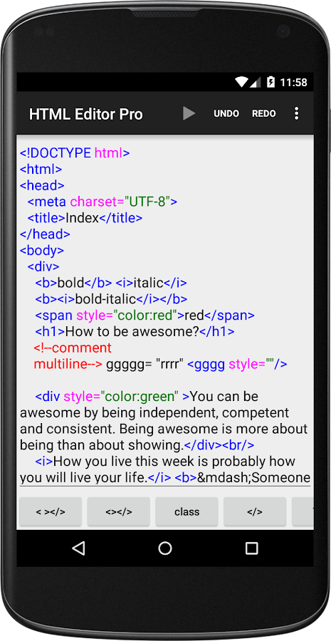 HTML Editor Pro 2 19 APK Download - Android Tools Apps