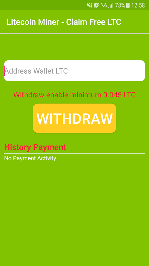 Litecoin Miner - Claim Free LTC 1 3 APK Download - Android Tools Apps