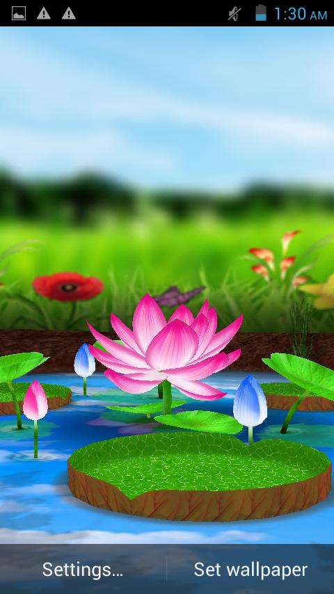 Lotus 3D Live Wallpaper 22 Screenshot 3