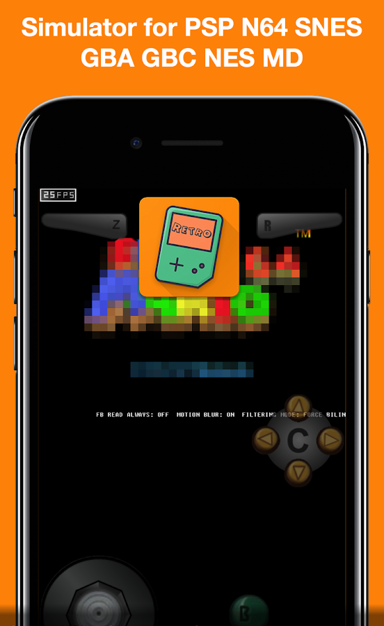 🕹Enjoy Retro Emulator for SNES, PSP, N64, Genesis 3 2 1 APK