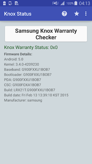 KNOX Status Samsung 1 4 091516 APK Download - Android Tools Apps