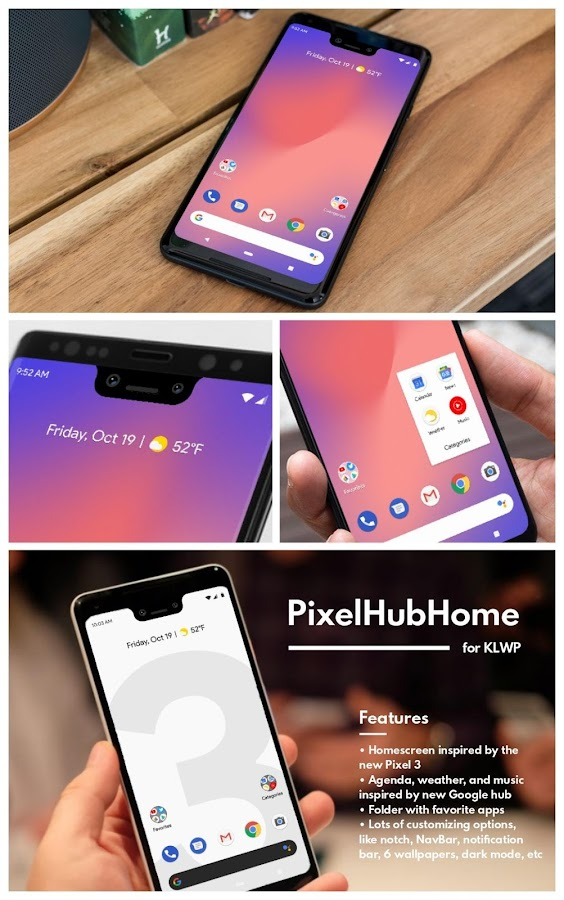 PixelHubHome for KLWP v2018 Oct 19 12 APK Download - Android