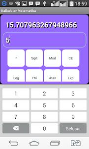 Kalkulator Matematika 1.0 screenshot 3