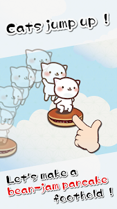 Cat Jump With Bean-jam pancake 1.3 screenshot 2