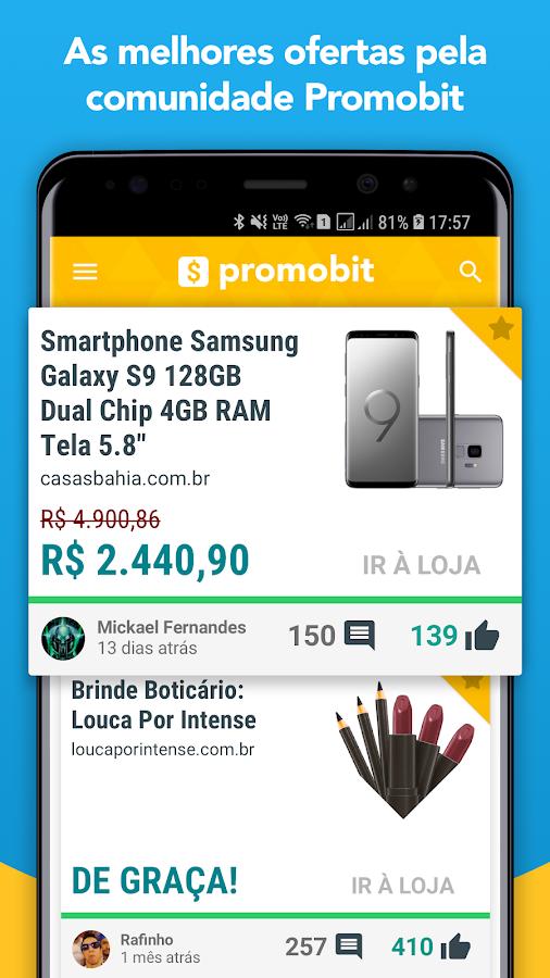 852407d02 Promobit - Ofertas, Promoções, Cupons e Descontos 2.5.8 screenshot 1 ...