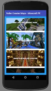 Roller Coaster Minecraft Maps 8.0 screenshot 1