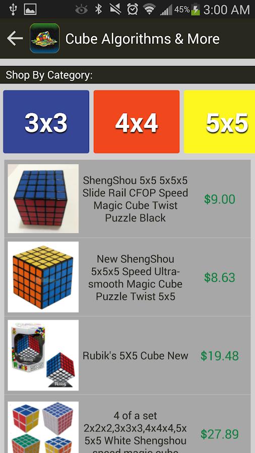Rubik's Cube Algorithms, Timer 2 8 2 APK Download - Android Books