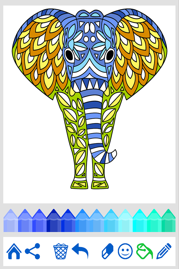 Coloring Book Animal Mandala 125 APK Download