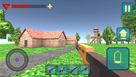 Pixel Shooter War On Island 3D 1.0 screenshot 1