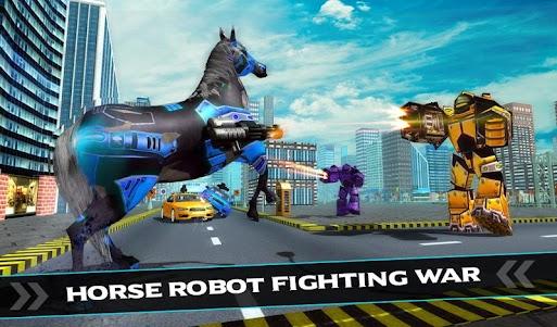 US Police Car Robot War Wild Horse Robot Transform 1.1 screenshot 1