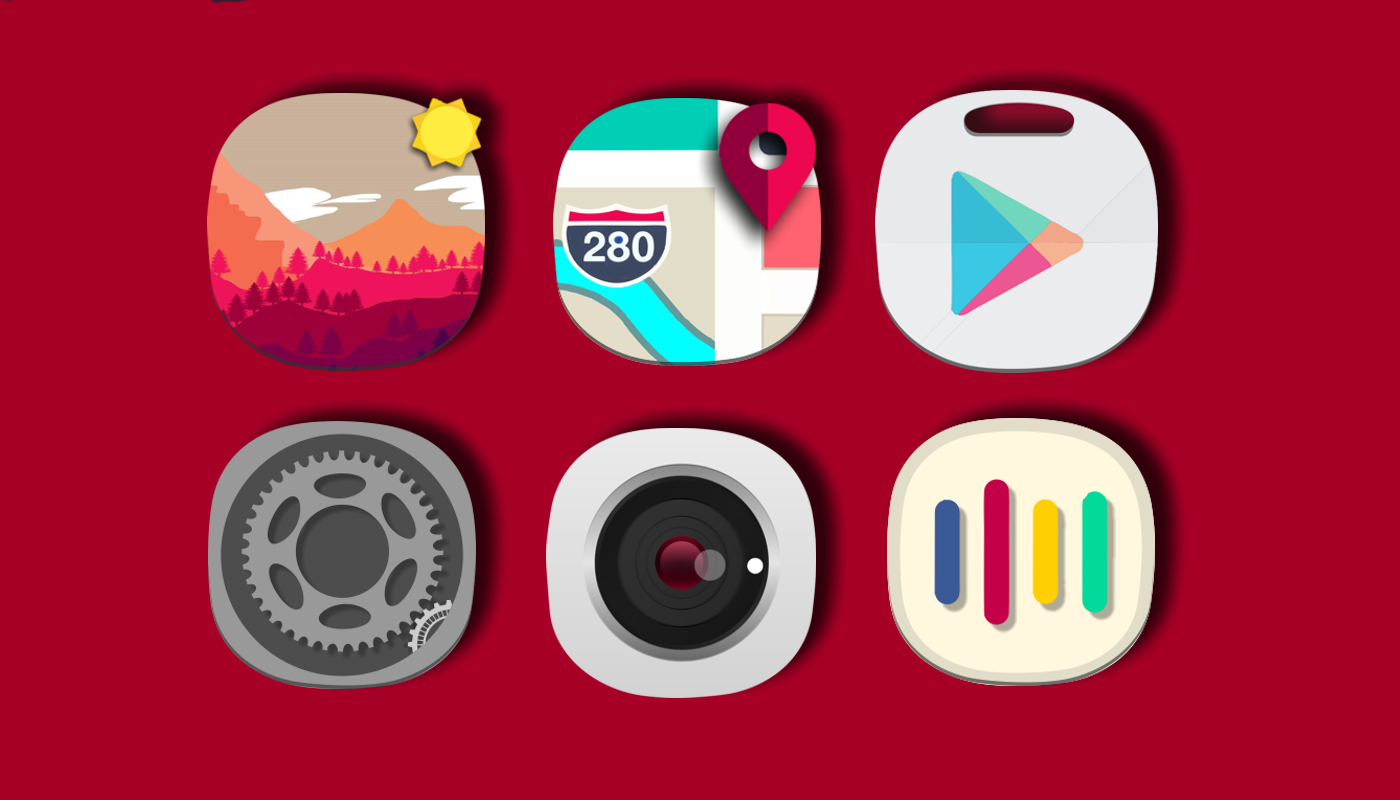 icon pack iOS 12 Concept - iPhone X Theme HD 6Icons Concept APK