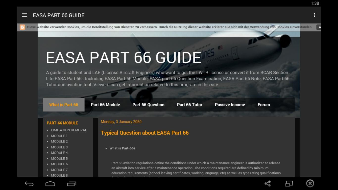 EASA PART 66 1 02 APK Download - Android Education Apps
