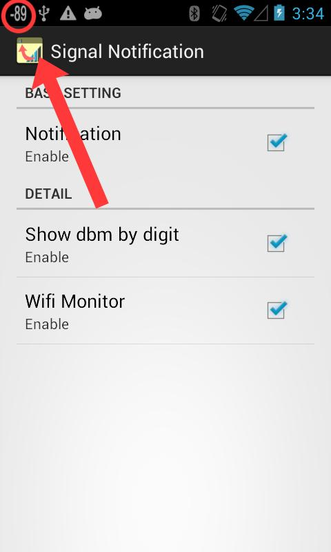 Signal level notification 1 0 6 APK Download - Android