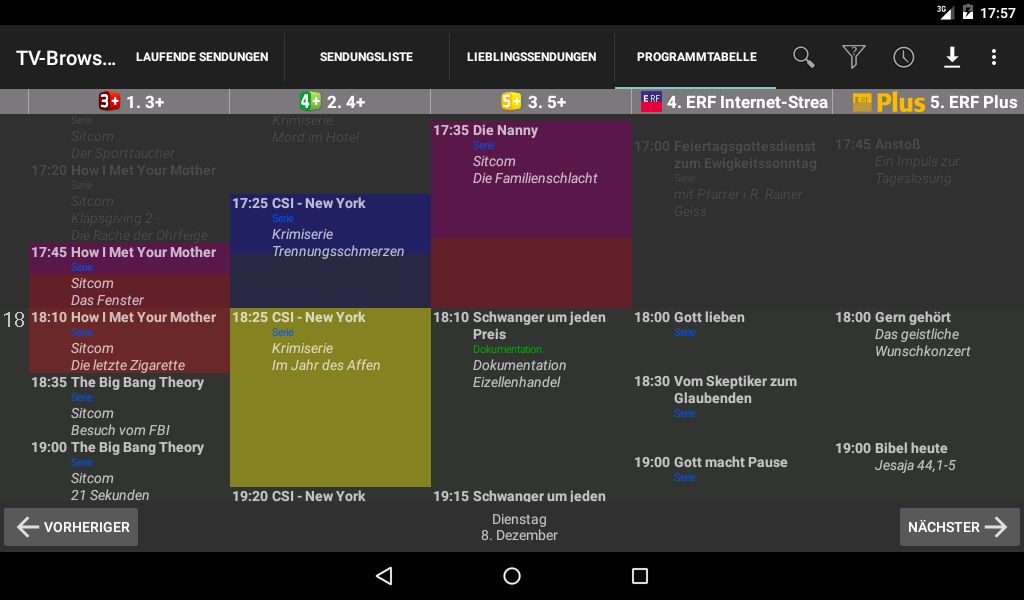 TV-Browser - TV guide 0 6 4 APK Download - Android Entertainment Apps