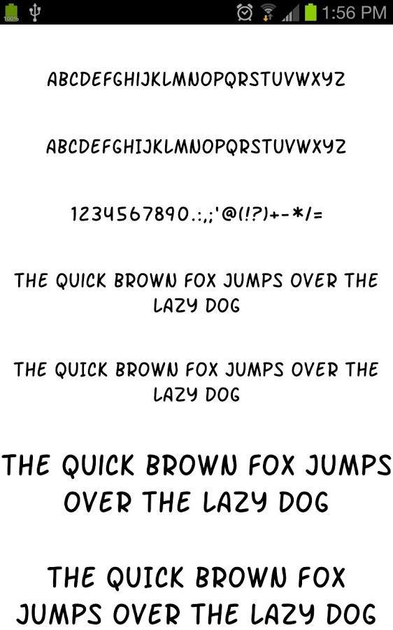 fonts for samsung free apk download