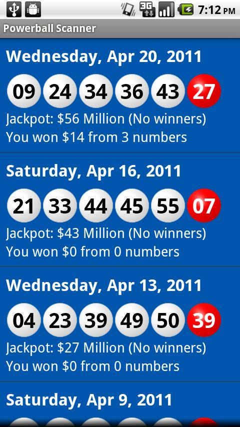 Powerball Scanner 2 7 APK Download - Android News & Magazines Apps