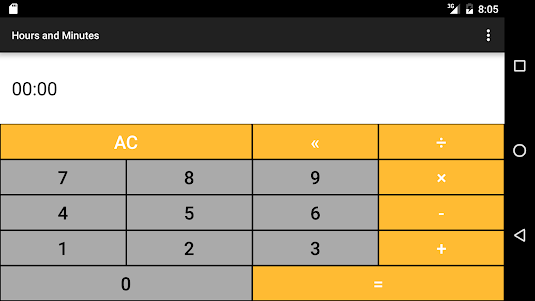 Hours & Minutes Calculator 1.3 screenshot 7