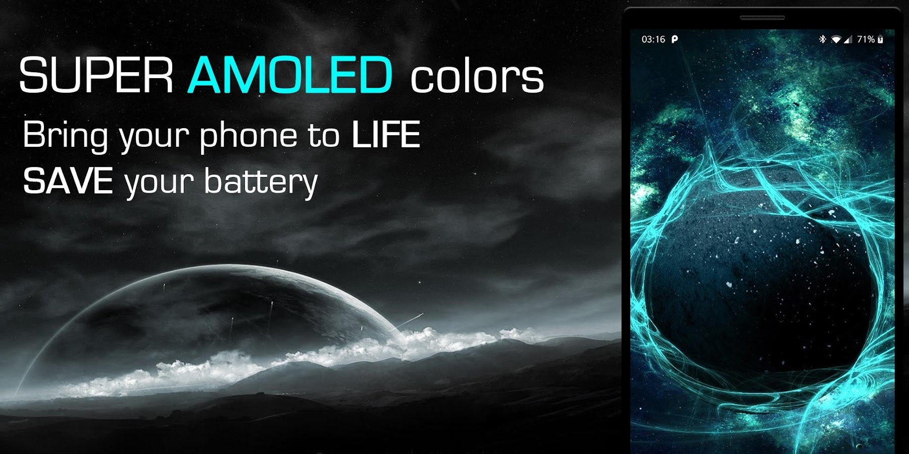 Live Wallpapers 3D--Animated AMOLED 4D Backgrounds 1.68 screenshot 1 ...