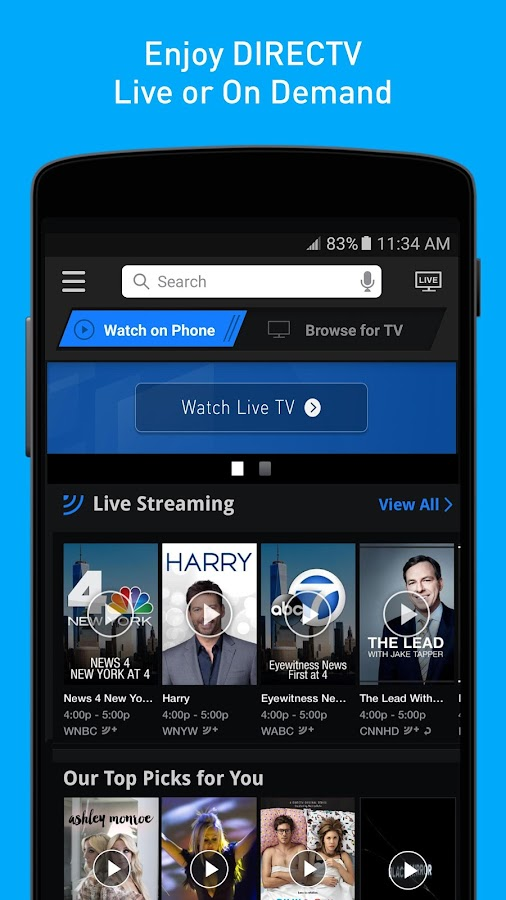 directv now app download apk