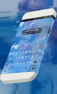 Dainty weather Keypad Theme 1.3 screenshot 1