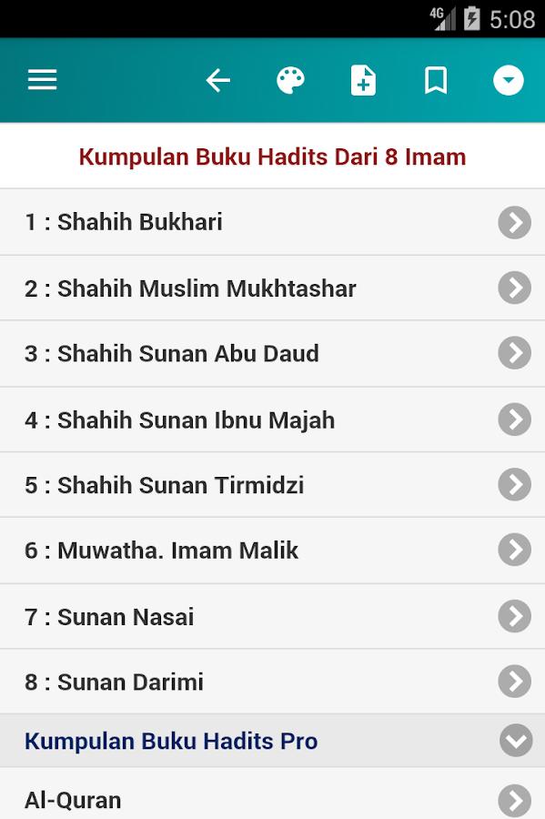 Kumpulan Hadits Dari 8 Imam 10 9 Apk Download Android Books