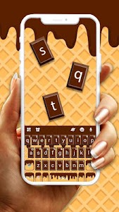 Yummy Chocolate Keyboard Theme 1.0 screenshot 1