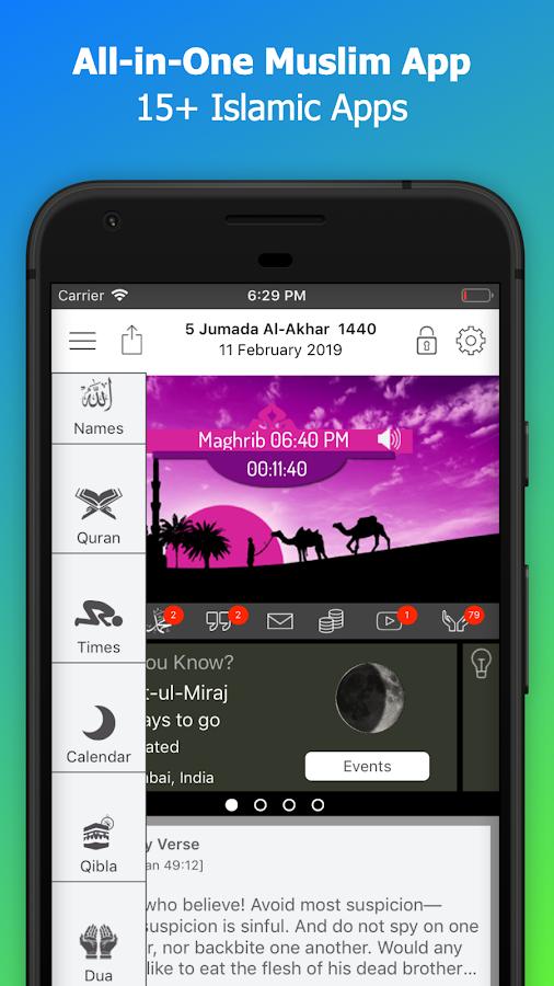 Islamic Calendar: Azan, Prayer times, Quran, Qibla 1 46 APK