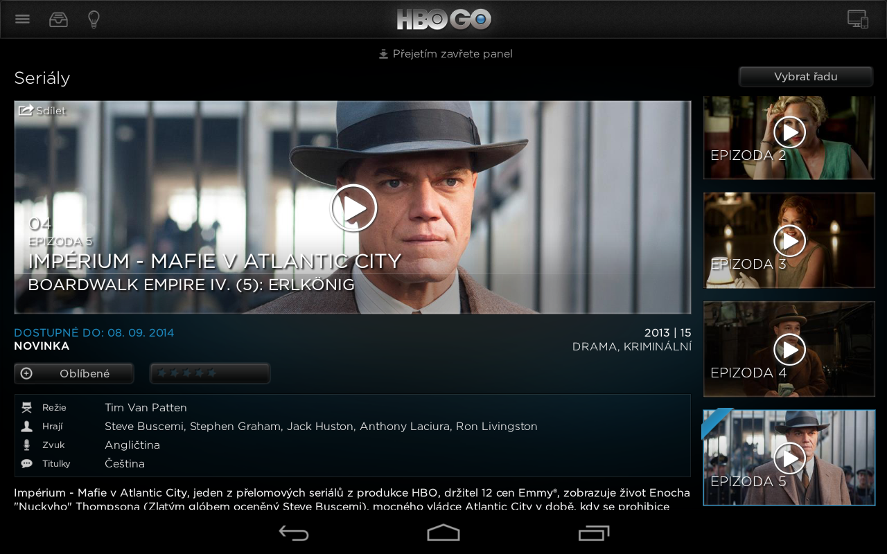 HBO GO Czech APK Download - Android Entertainment Apps