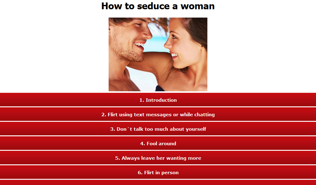 tips to seduce a girl