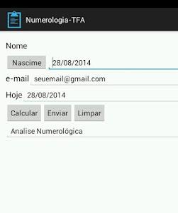 Numerologia-TFA 1.0 screenshot 1