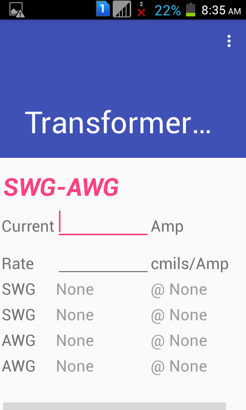 Transformer winding calculator 10 apk download android tools apps transformer winding calculator 10 screenshot 6 keyboard keysfo