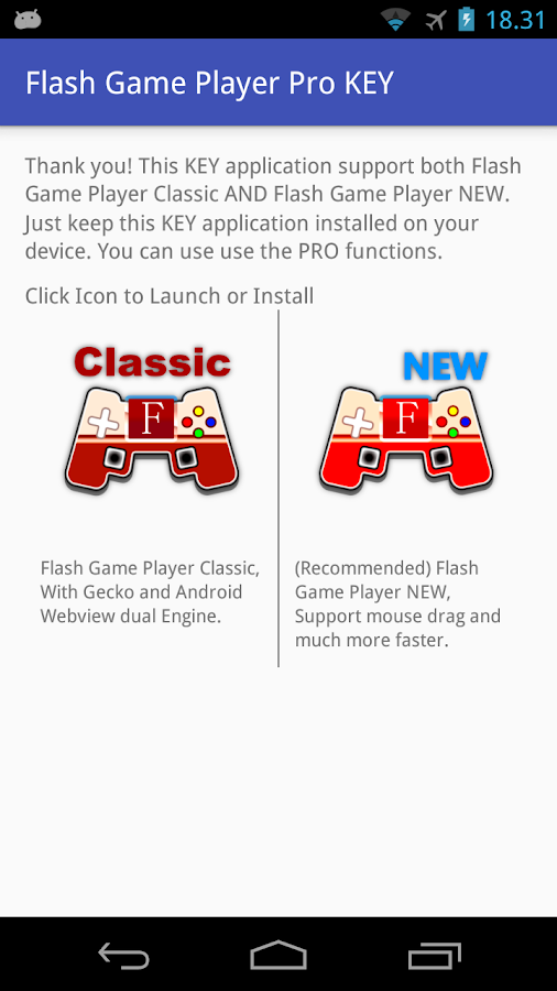 Flash Game Player Pro KEY 2 0 (Keys) APK Download - Android